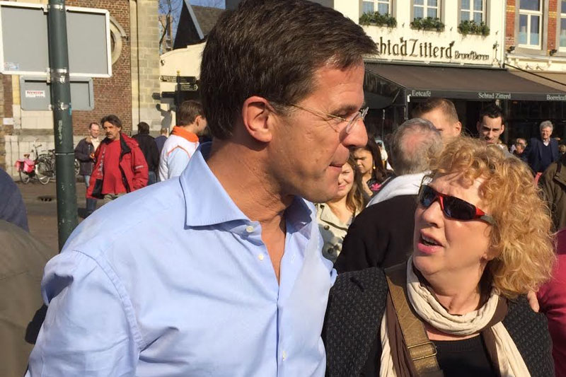 Talking with PM Rutte